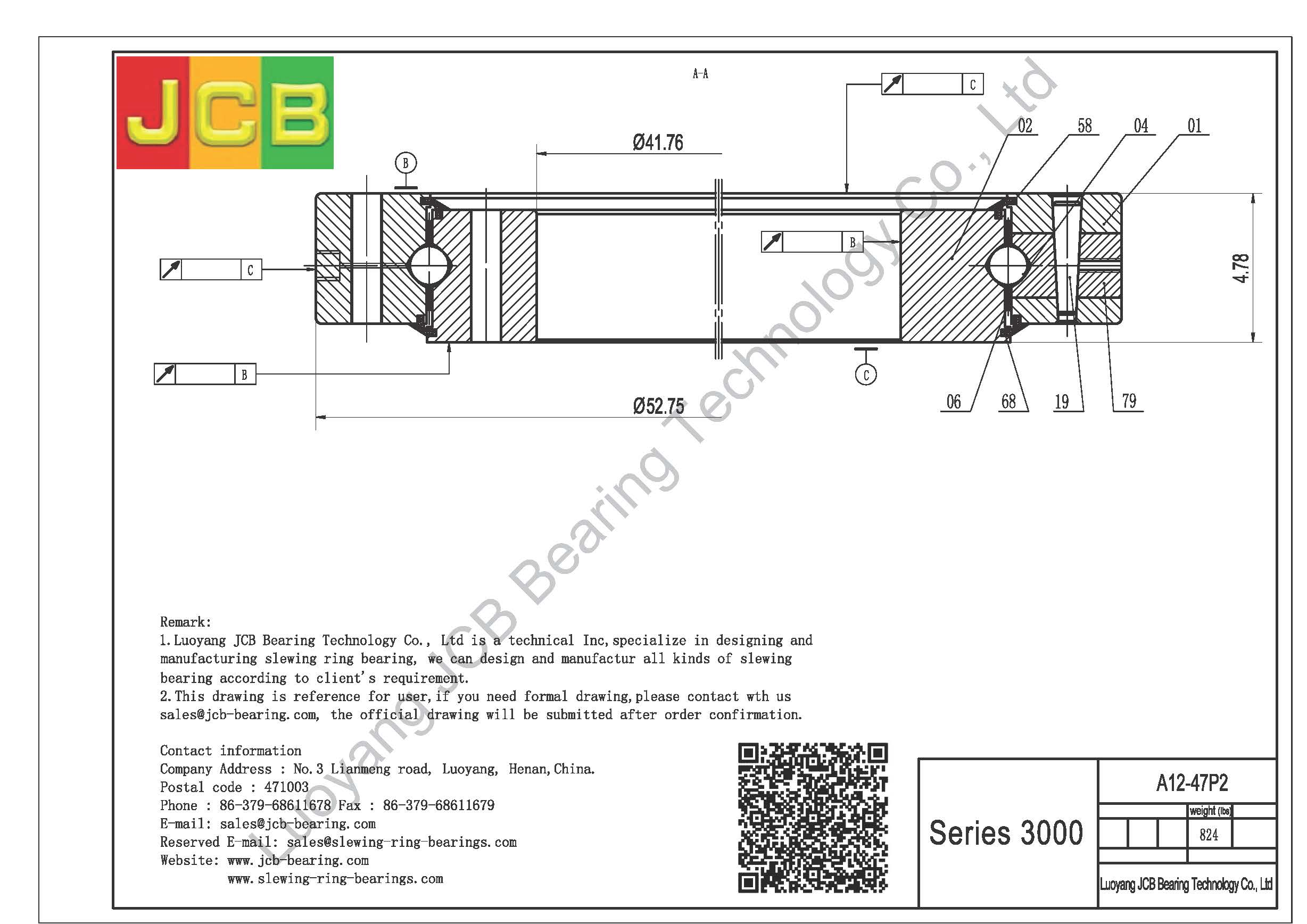 DRAWINGS ROTEK - MANUFACTUTERE OF QUALITY SLEWING BEARING